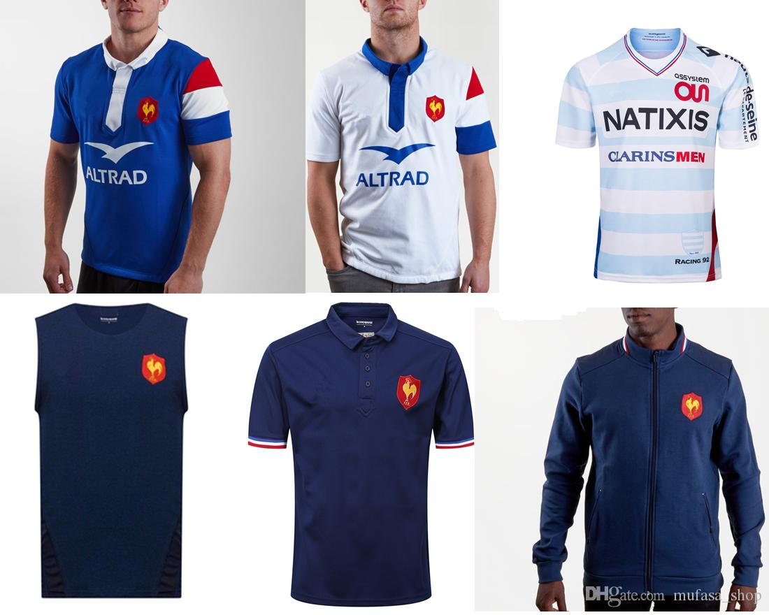 pretty nice ec870 244ee France 2019 Home Alternate S/S Rugby Shirt Rugby Jerseys shirt 18 19 France  national team League jersey Leisure sports shirt S-3XL