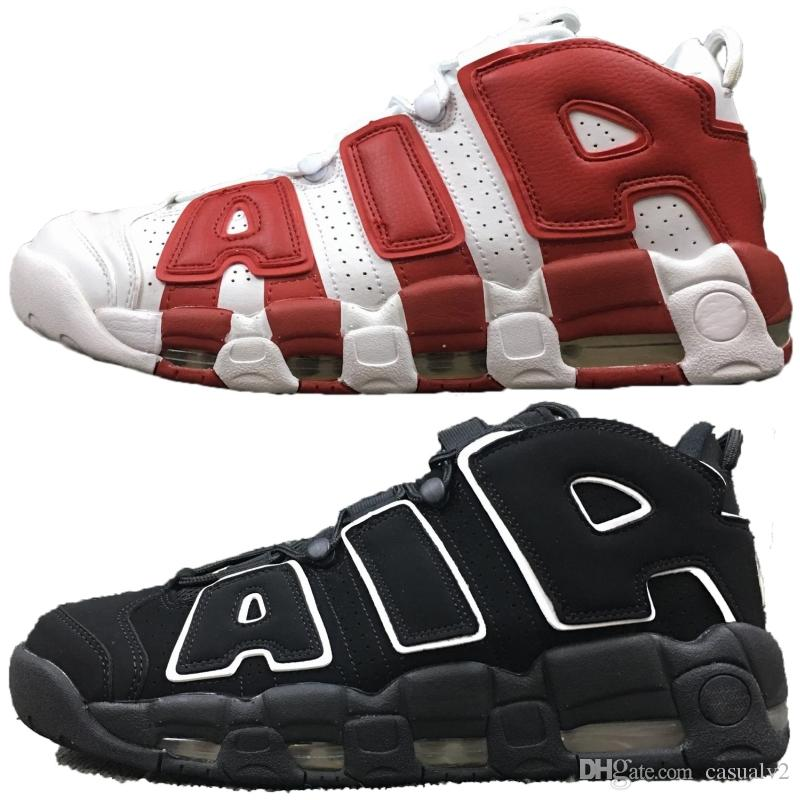 2018 Originals Air More Uptempo Men Basketball Shoes Pure Black Blue Stripe  White Red Men Shoes Athletics Sneakers Trainers UK 2019 From Casualv2 c0fc67023f9d