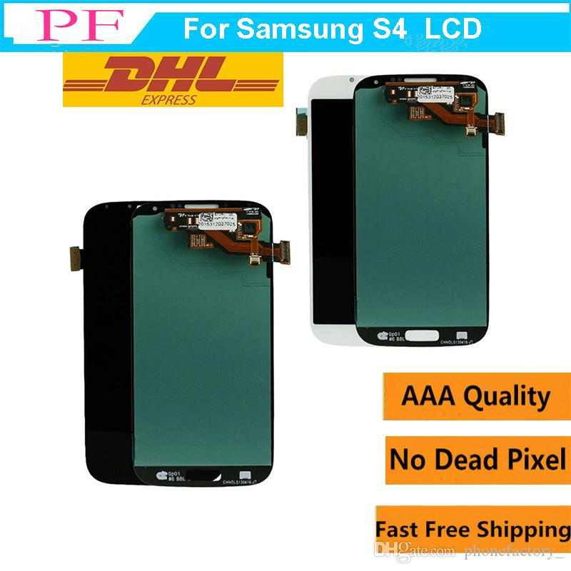 For Samsung S4 Original LCD Digitizer Touch Screen Display Assembly Screen Placement For Samsung Galaxy S4 I9500 I9505 I9506 I337