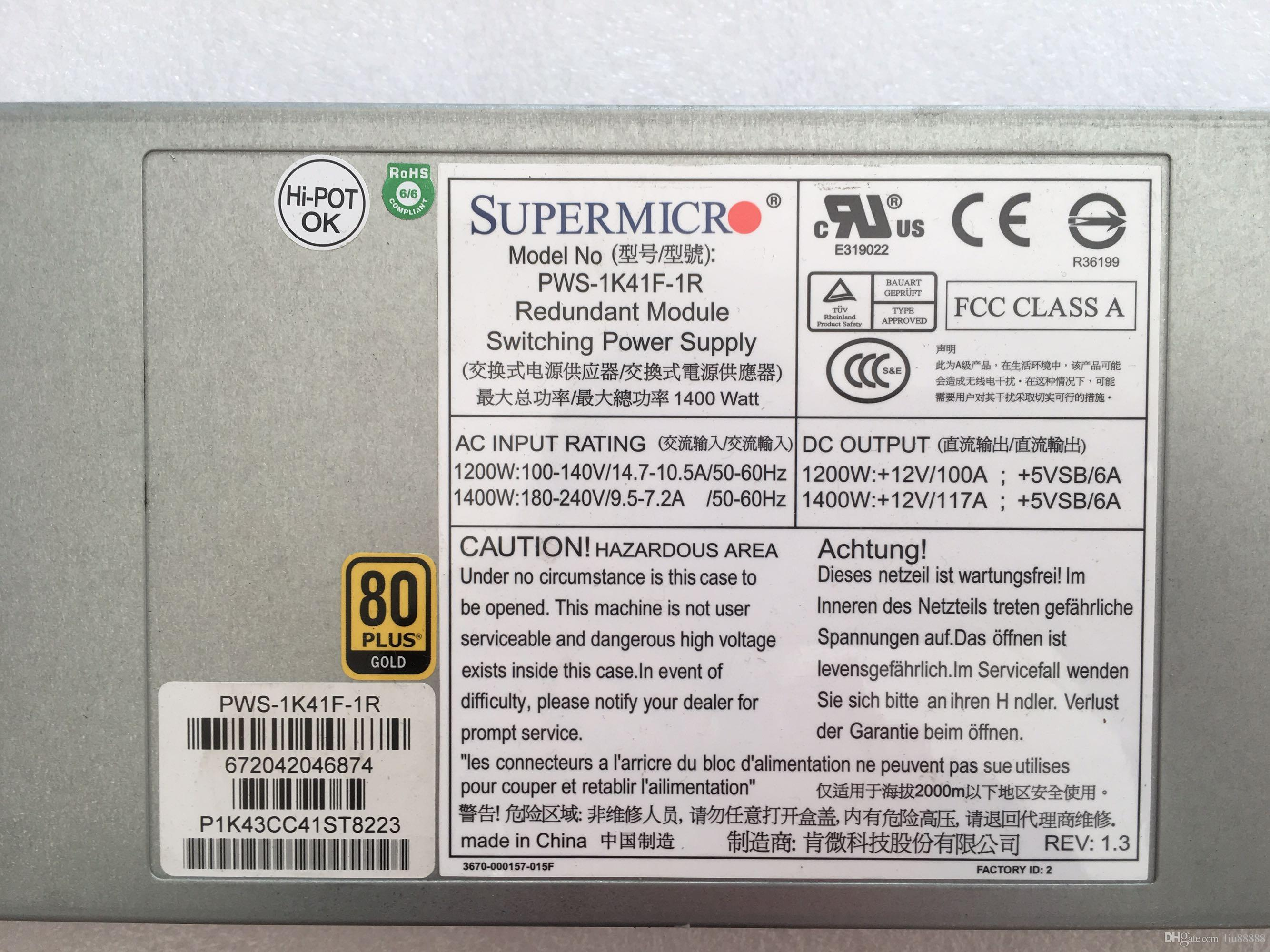 Original power supply For RH2488 V2 PWS-1K41F-1R 1400W