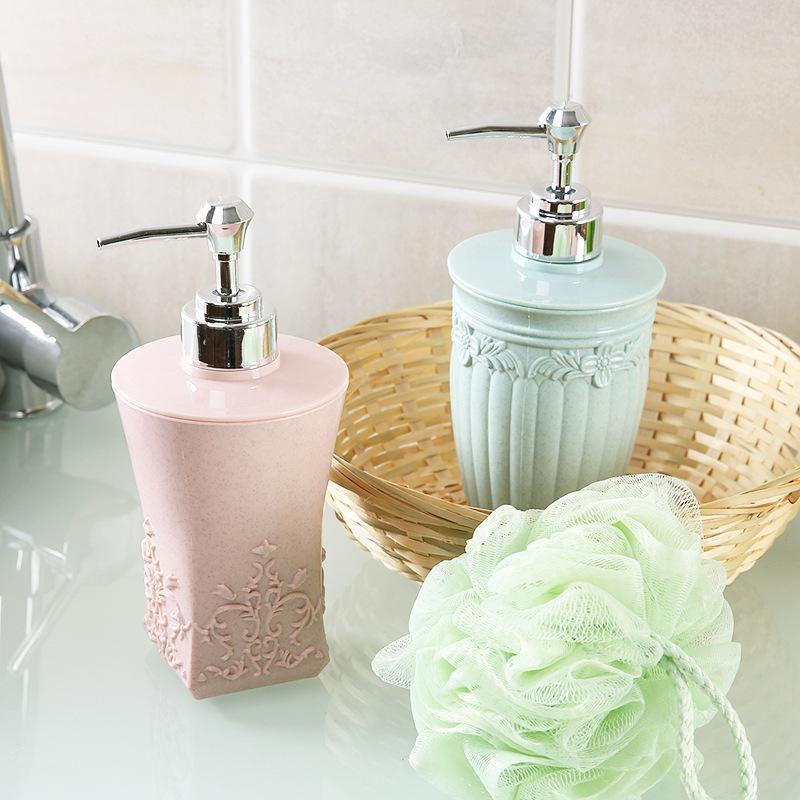Genial 400ml Liquid Soap Dispenser Pump Plastic Shower Gel Bottle Detergent  Container   European Cameo Design For Kitchen Bathroom Accessories 400ml  Liquid Soap ...