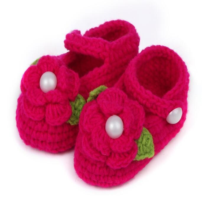 Нескользящая мягкая подошва цветочные вязаные детские туфли детские мальчик девочка первые ходунки бесплатная доставка