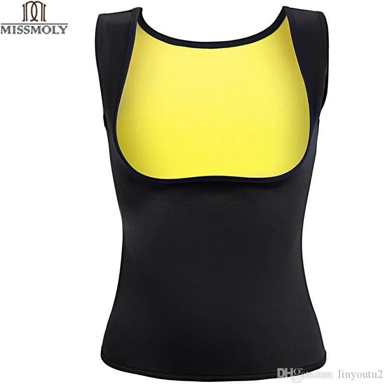 ac444a9fb Miss Moly Hot Shapers Sauna Sweat Neoprene Body Shaper Women Slimming Thermo  Push Up Vest Waist Trainer Cincher Corset  USPS  UK 2019 From Linyoutu2