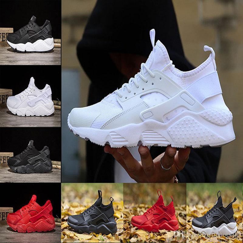 online retailer a5a13 5116d Wholesale Classic Huarache 1.0 Running Shoes Triple White Black Red  Huraches IV Grey Trainers Men Women Runner Sneakers Athletic Spots Shoes  Best Trail ...