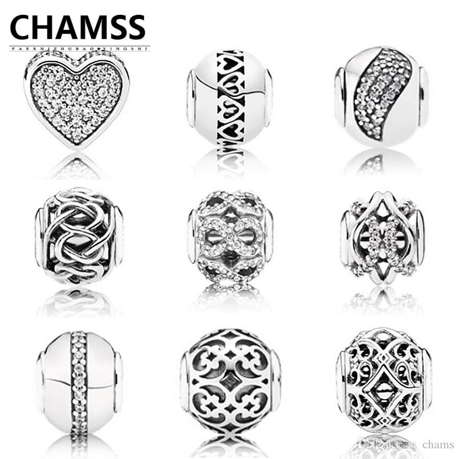 fb2dc311f5b51 CHAMSS Pandora in Essence Charm Beads Affection Happiness Love Steady DIY  Woman for Jewelry Factory direct Pandora original 1:1