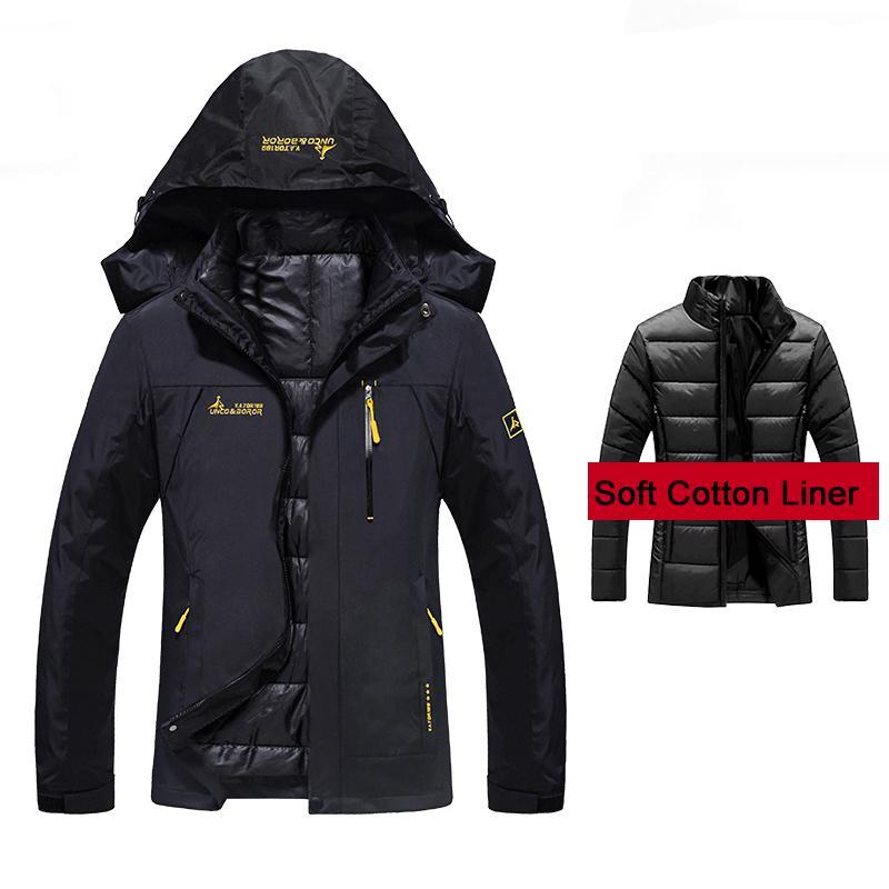 new product ba93e 0f6d2 Giacche invernali da donna 2 pezzi all interno di cotone imbottito Giacche  da sport invernali impermeabili per escursioni invernali