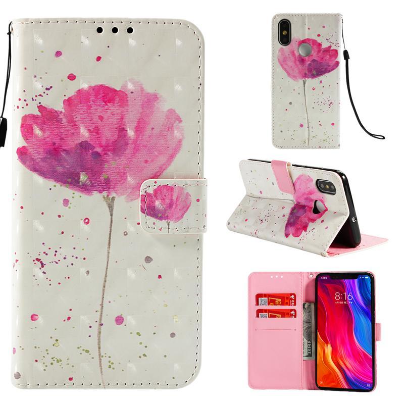3D Блеск Окрашенный бумажник Флип кожаный чехол для Xiaomi Pocophone F1 Mi Max 3 8 6X 5X A1 RedMi S2 6 Pro A2 Lite 6A Note 4A 4X 5 Plus 5A Prime
