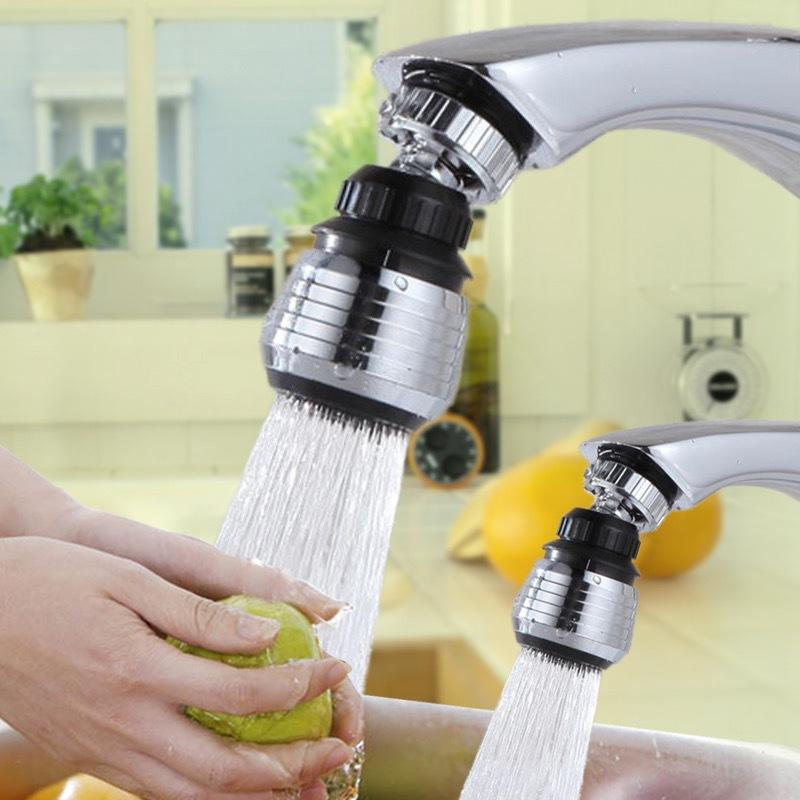 360 Rotary Kitchen Faucet Shower Head Economizer Filter Water Stream Faucet