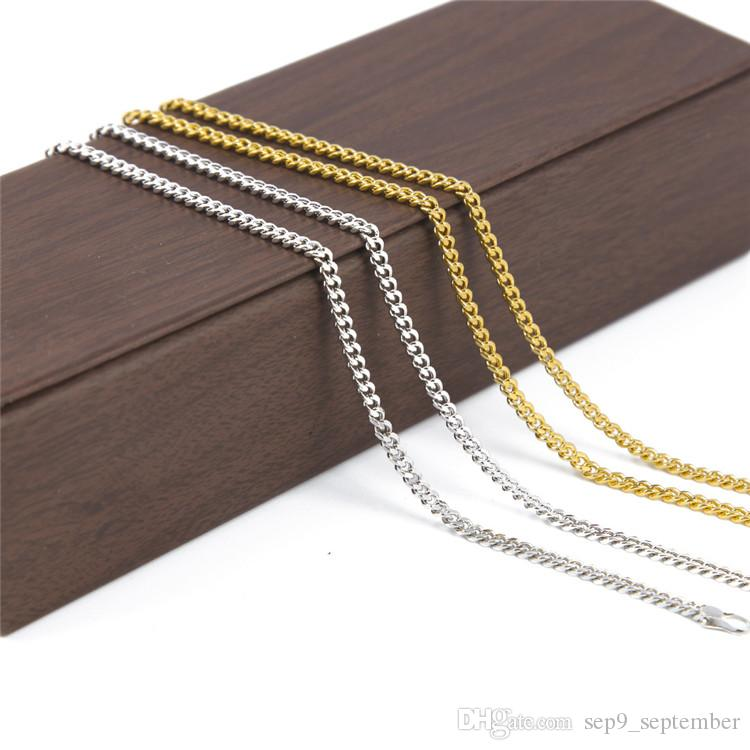 Small Miami Cuban Link Gold Chiain Necklace Hip Hop Jewelry Various Sizes Hipster Men Curb Chain