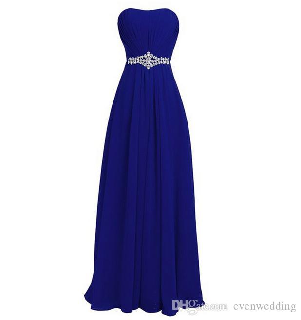 Vestido de dama de honra azul