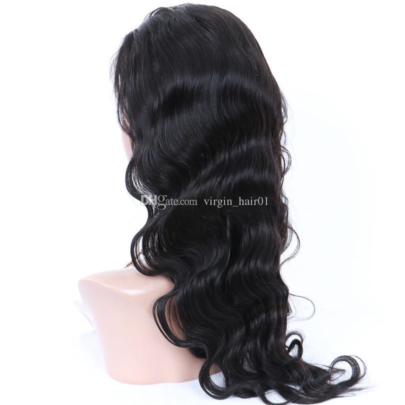 U الجزء الباروكات شعر الإنسان الجزء الأوسط للنساء السود الطبيعي الأسود البرازيلي ريمي الشعر الباروكات الجسم موجة الإنسان باروكات الشعر