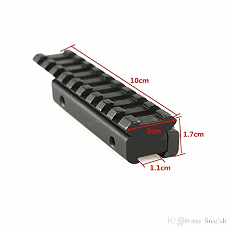 Tactical Dovetail Scope Extend Mount 11mm to 20mm Picatinny Weaver Rail Adapter Fits dovetail 11mm rail.