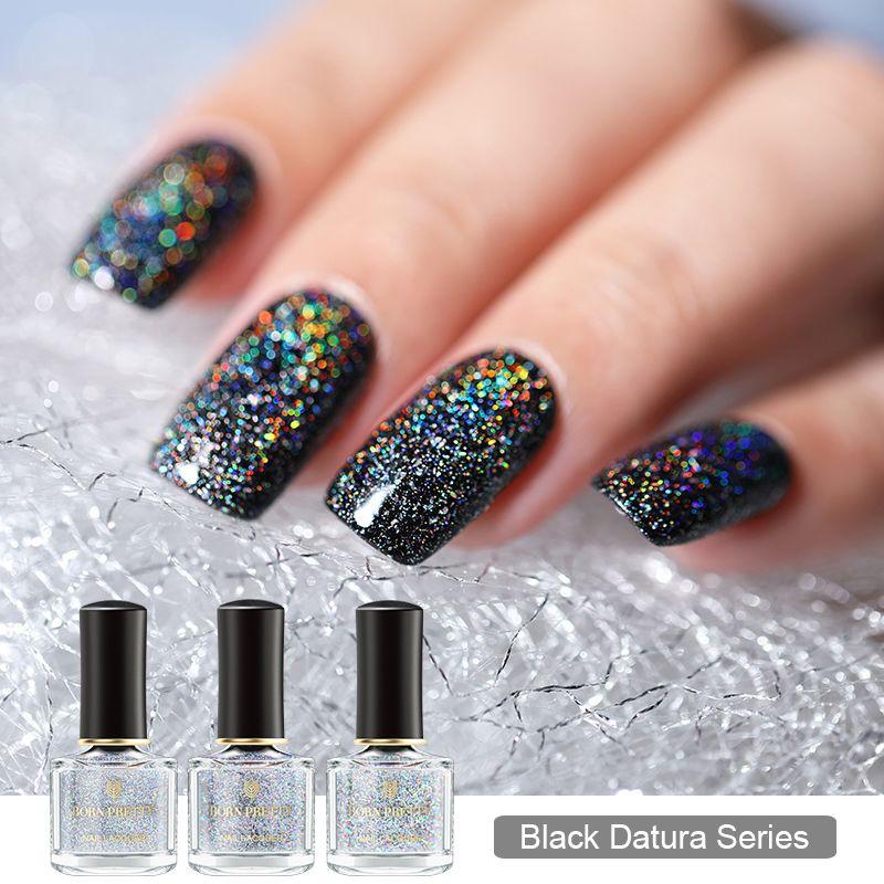 BORN PRETTY 6ml Holographic Nail Polish Galaxy Sequins Nail Polish ...