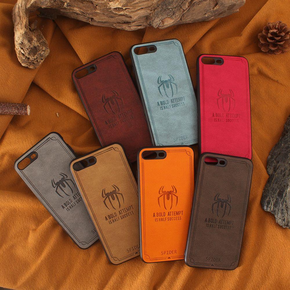 afe0ecdfbd0 Fundas Moviles Chinos Funda De TPU Slim Spider Cloth Para IPhone 8 Plus 8 X  7 7 Plus 6 6s Plus Huawei P20 P20 Pro Mate 10 Fundas Para Móviles Por ...