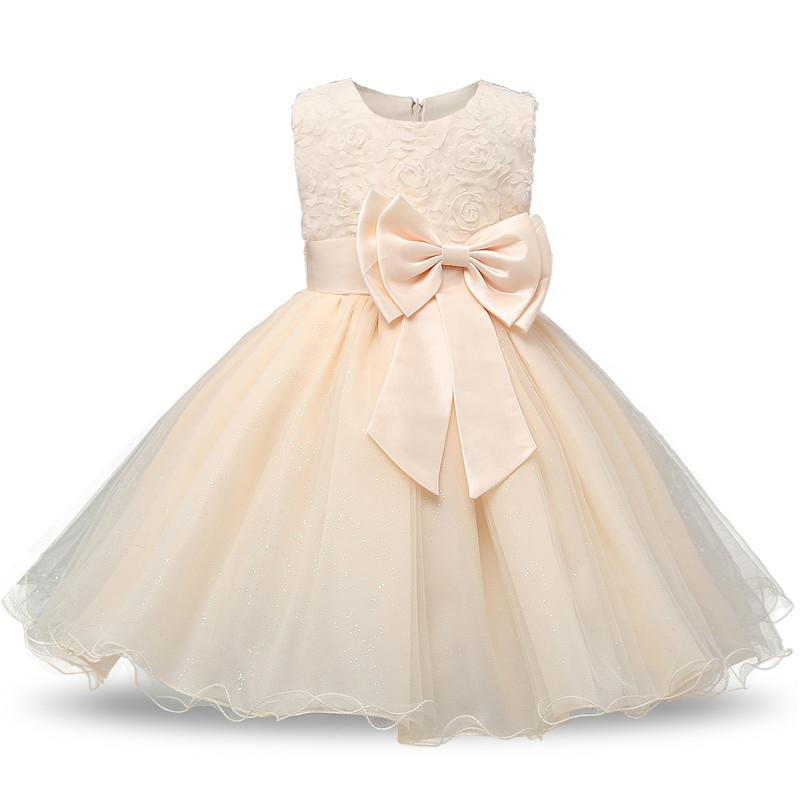 ff9516a293da0 New Toddler Girl Baptism Clothes Girl Newborn Baby Christening Gown Dress  For Girl Kids Party Wear 1 2 Years Birthday Outfits