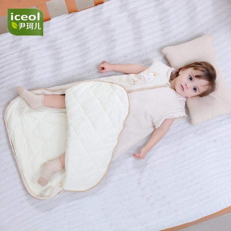 b9163d09f2 Double Layer Detachable Baby Bedding Children Sleeping Bag Organic Cotton Blanket  Sleepers Zipper Kids Cartoon Boy Girl Jumpsuit Baby Christmas Pajamas ...