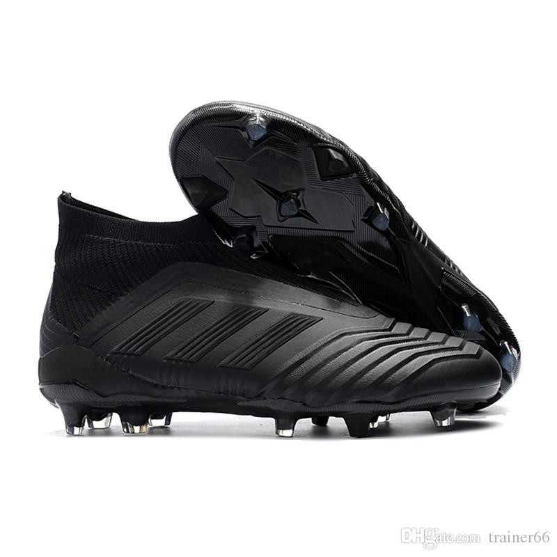 7a6fd2d292 ... hot compre adidas predator 18 fg botas de futebol barato homens sapatos  de futebol laceless chuteiras