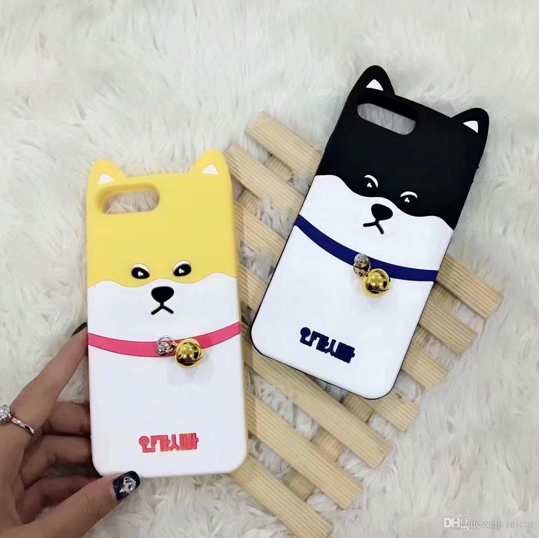 Cell Phone Shell for iphone 7 case Bells Dog Silicone Rubber Case for iphone X case