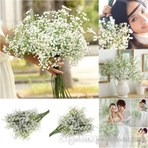 Artificial Fake Babys Breath Gypsophila Seda Flores Ramo Inicio Wedding Party Decoraciones Decoración c626
