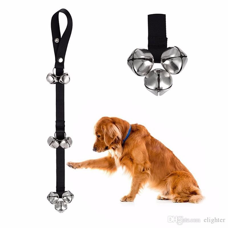 Pet Dog Potty Training Door Bells Rope House training Housebreaking Anti Lost Dog bells Rope Leash