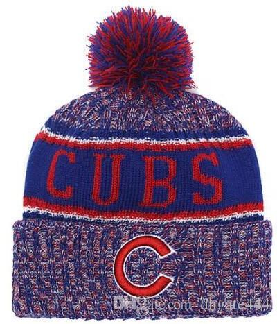3b5b8207e34 Winter Hat Cubs Beanie Stripes Sideline Cold Weather Graphite Sport Knit  Hat Wool Bonnet Warm Official Reverse Cap Beanie Crochet Baby Hats Ladies  Hats From ...