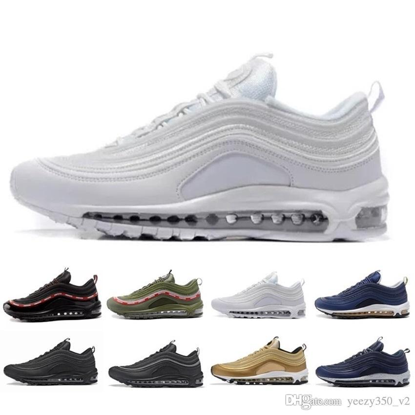 the best attitude 6fb31 88a0d Acquista Nike Air Max Airmax 97 Nuovi Uomini Di Marca Low 97 Og Cuscino  Traspirante Cheap Massage Running Flat Sneakers Uomo 97 Sport Outdoor  Scarpe Air ...