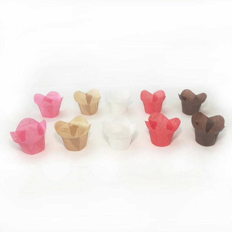 Pişirme Kek Gömlekleri Kılıfları Lotus Şekilli Çörek Sarmalayıcılar Kalıpları Standı Yağ Yayın Kağıt Kollu 5 cm Pasta Araçları Doğum Günü Partisi Dekorasyon