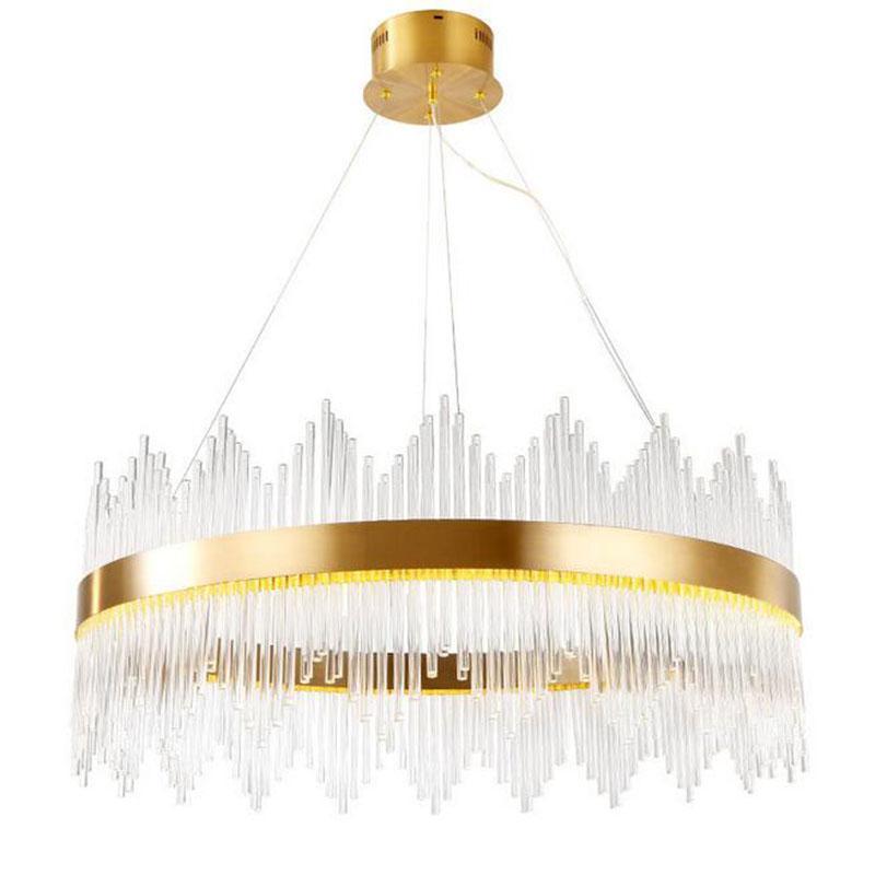 5f1d8f4579cc Compre Lámpara Colgante Moderna De La Sala De Estar Del Comedor Del Oro De  Las Luces LED AC110V 220V De La Nueva Llegada A  829.61 Del Stylenew