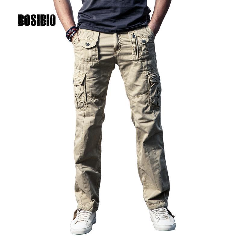 93c1a8b922 Compre Nuevos Pantalones De Carga Para Hombre De Color Caqui Sólido  Transpirable De Verano De Gran Tamaño De Bolsillo Multi Pantalón Largo De Venta  Caliente ...