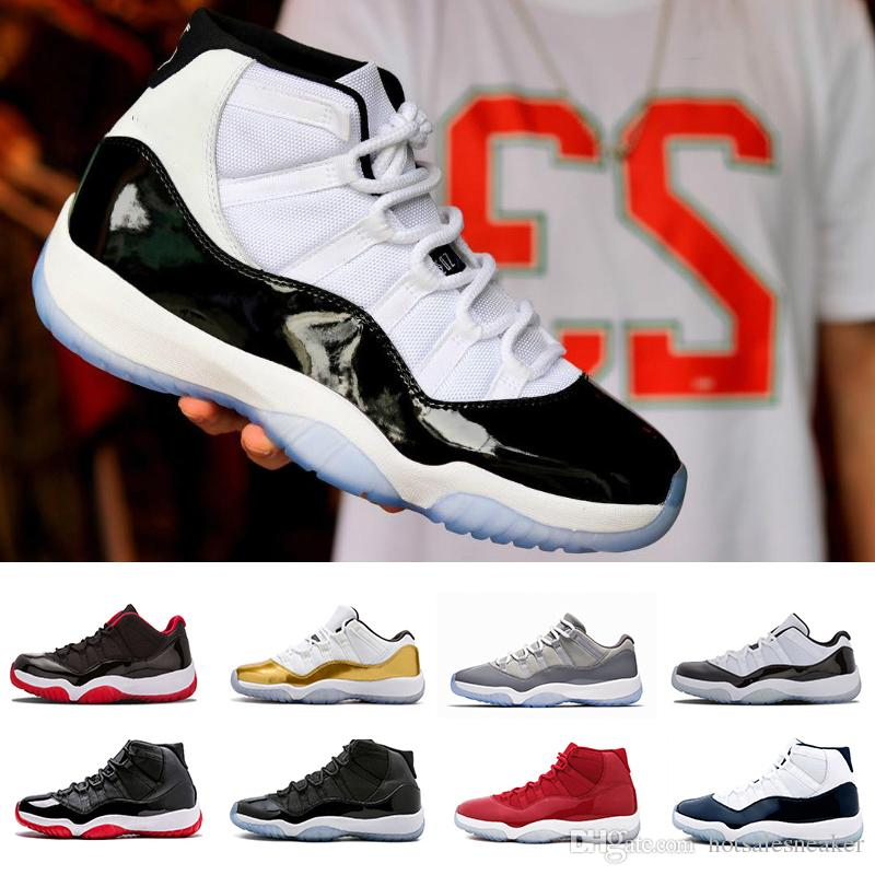baad703f3710d7 2019 Hot Sale 11 Space High Bred Low Navy Gum Basketball Shoes Men Women 11s  Concords 72 10 Low Closing Ceremony Sneakers Shoes Sneakers Jordans Shoes  From ...