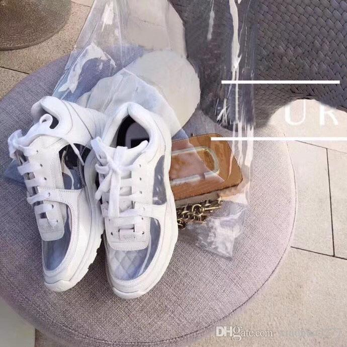 2018 New Luxury Brands Transparent Casual Shoes Fashion