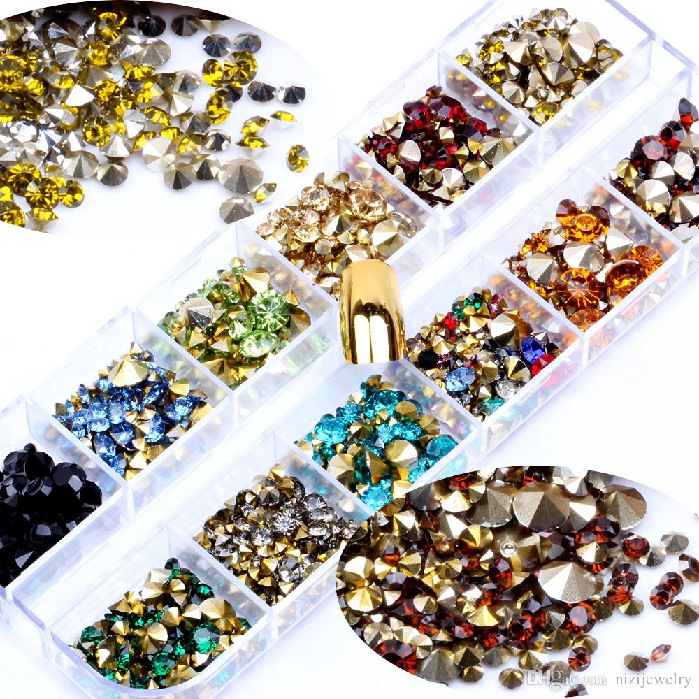box Mixed Size Resin Point Bottom Rhinestones Glue On Diamond ... 4bb64266f969