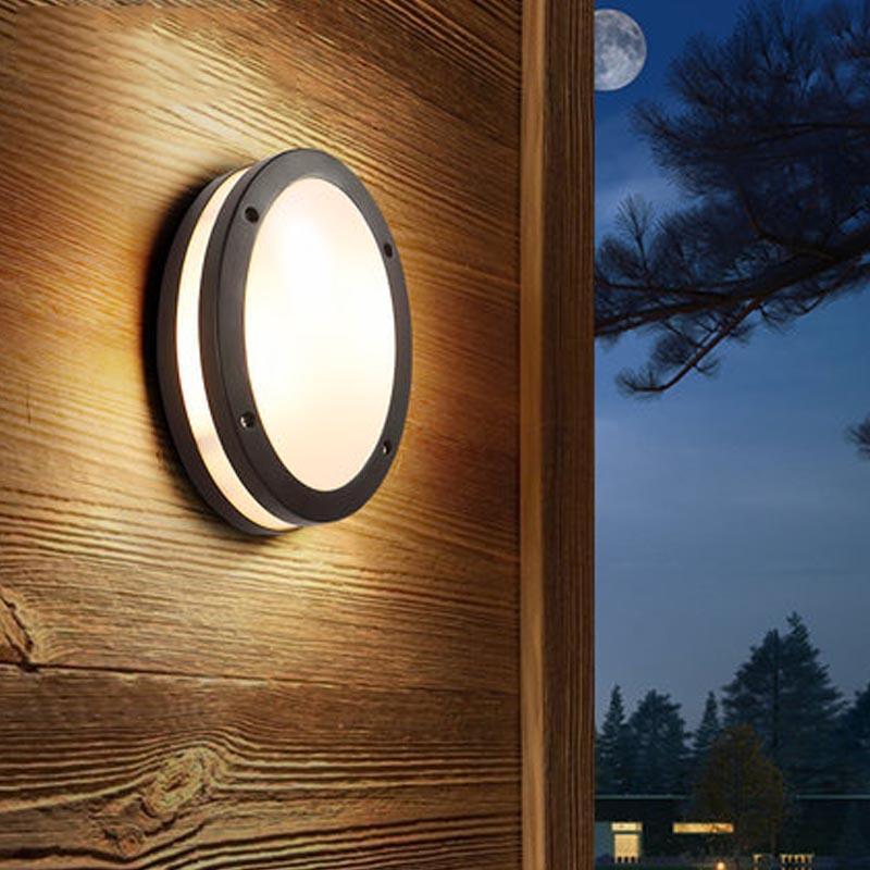 1e00f691e889 2019 Outdoor Waterproof Wall Lamp Nordic Modern Simple Aisle Balcony Terrace  Door Courtyard Light Room Wall Lamp From Goddard