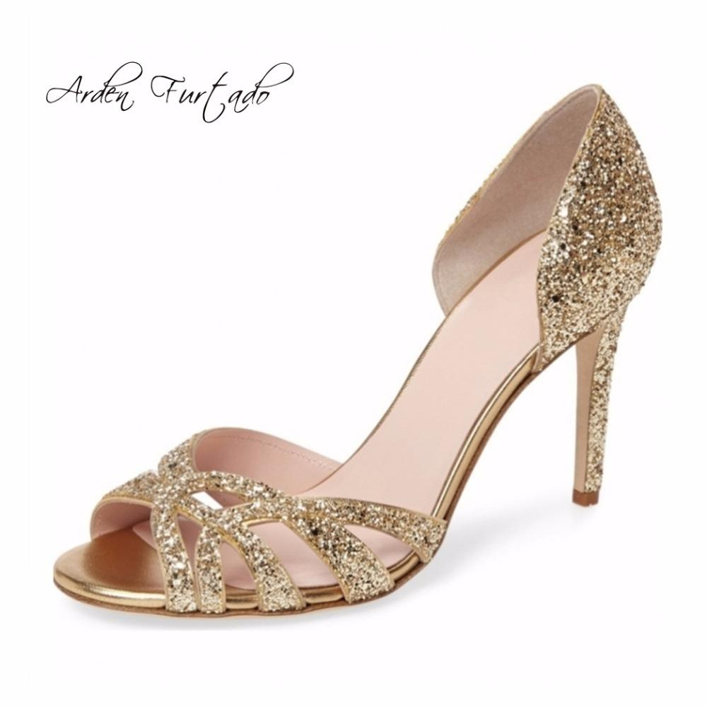 260d3c63009d2 2018 Summer Fashion Woman Party Shoes Peep Toe Silver Wedding Wedding Shoes  Sandals High Heels Anke-wrap Sexy Ladies Shoes Big Size 41 42 Sequined  Cloth ...