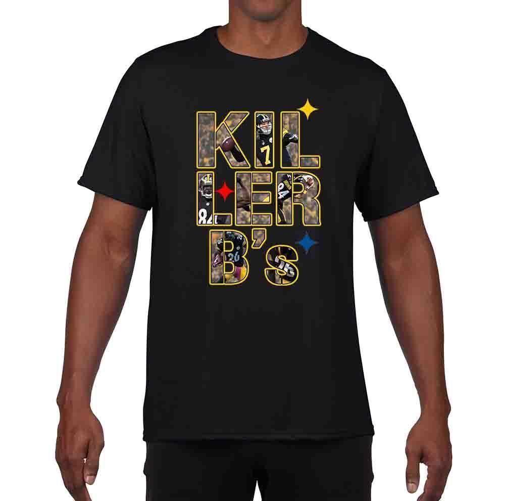 Source · KIL LER BS Antonio Brown Bell Big Ben Steelers T Shirt Fashion Men a75365a70