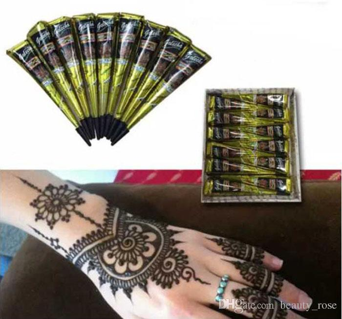 Black Natural Indian Henna Tattoo Paste for Body Drawing Black Henna  Tattoos Body Art Painting High Quality 25g