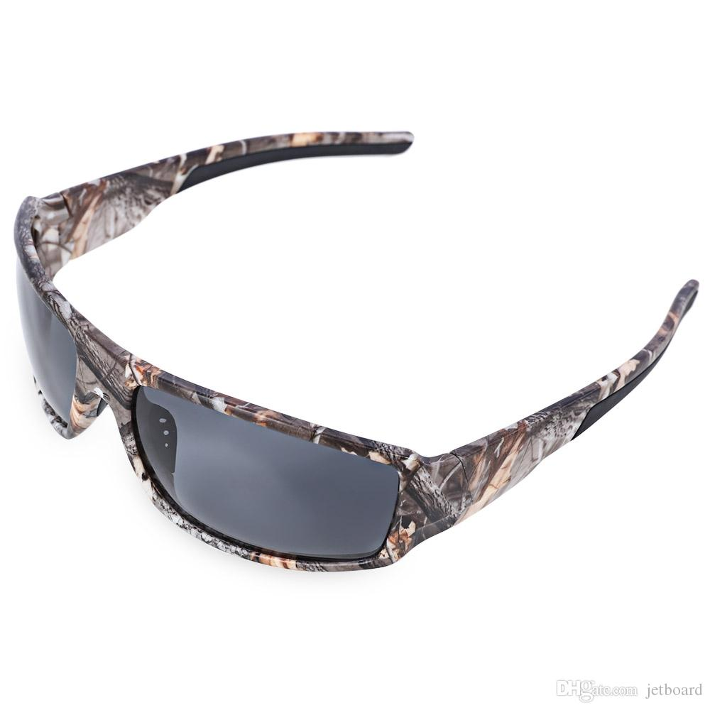 a6f9eca246a42 2019 Outdoor Sports Camouflage Frame Windproof Polarized Sunglasses Fishing  Eyeglasses Pecially Designed For Fishing
