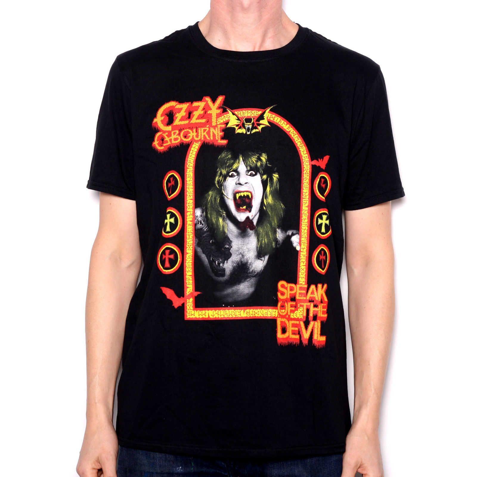 ab825a17f1d Ozzy Osborne T Shirt Speak Of The Devil 100% Official Black Sabbath Cult  Rock Crazy T Shirts T Shirt Prints From Teezone