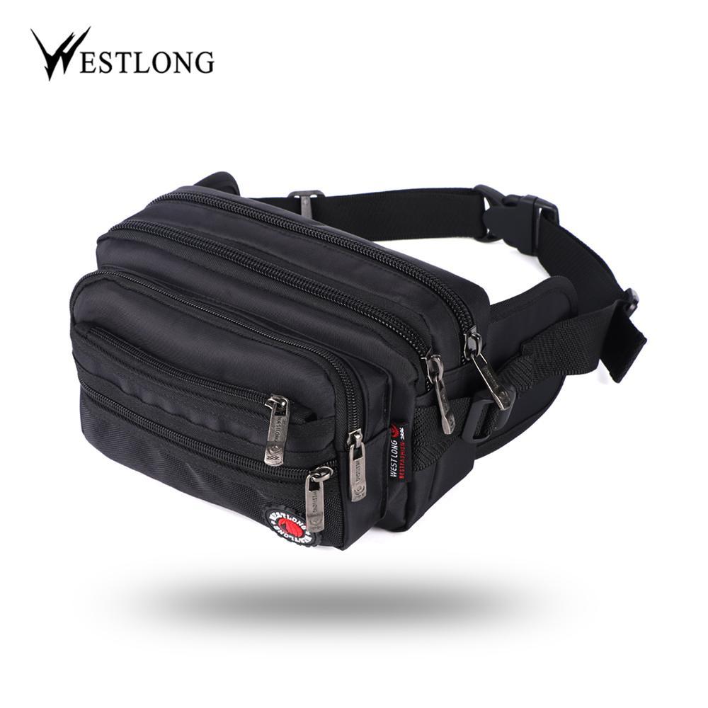 Waist Packs Men's Bags Pu Leather Fanny Pack Vintage Waist Bag Business Mens Chest Bag Korean Outdoor Men Belt Bag Casual Pockets Money Belly Bag Elegant Shape