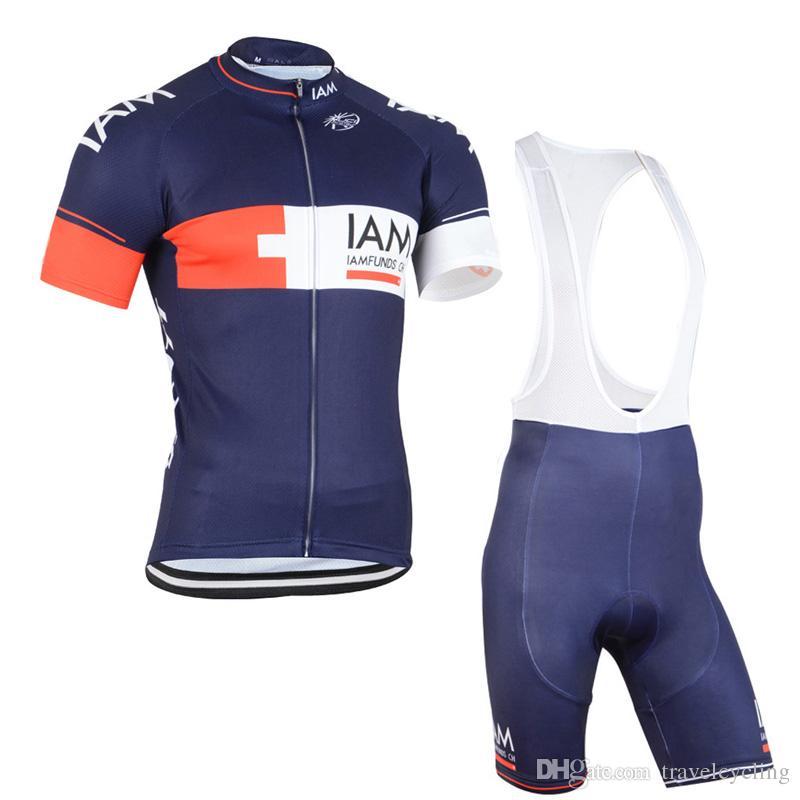 IAM Pro Team New Men Cycling Jersey Sets Cycling Shirts Bib Shorts ... 6a6e81808