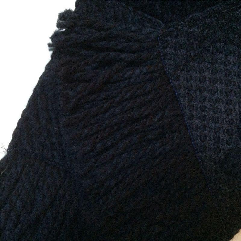 2019 Invierno LOGOMANIA BRILLO Marca de lujo de la bufanda mujeres y hombres Dos de seda roja lateral Negro Manta de lana bufandas diseñador de moda flor bufandas
