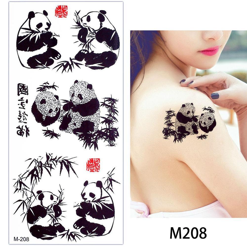 glaryyears 1 лист поддельные черный животных временные татуировки наклейки тела ручной макияж мода искусство татуировки Тигр Филин наклейка 2018 Новый