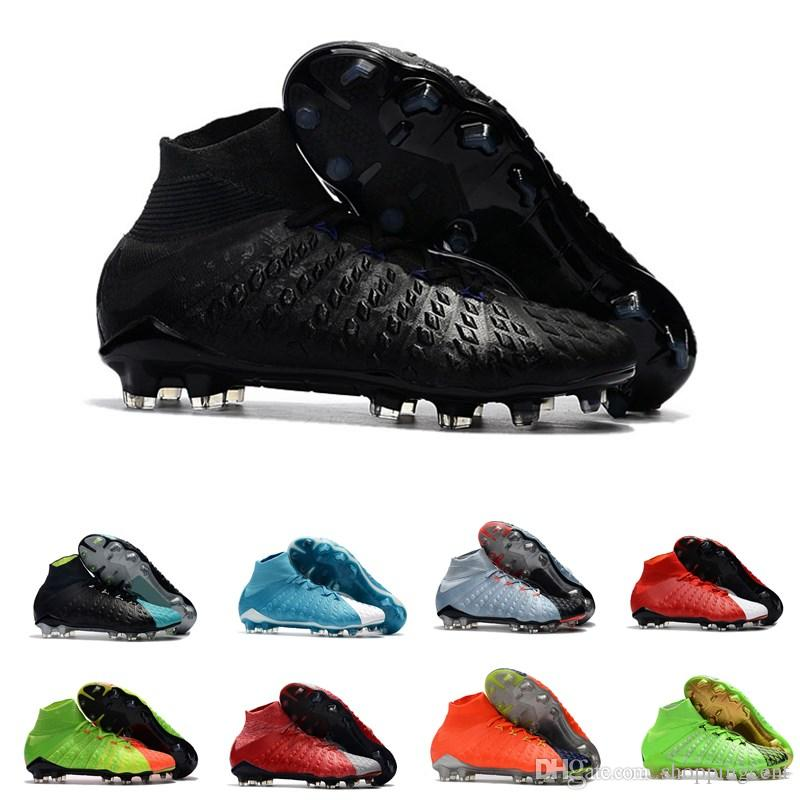 on sale 3accd 01c28 2019 Hot Sale New Men Soccer Shoes Hypervenom Phantom III DF FG Motion Blue  Ice Fire 3D Knitting Outdoor Football Boots High Size 39 45 From  Shoppingcent, ...
