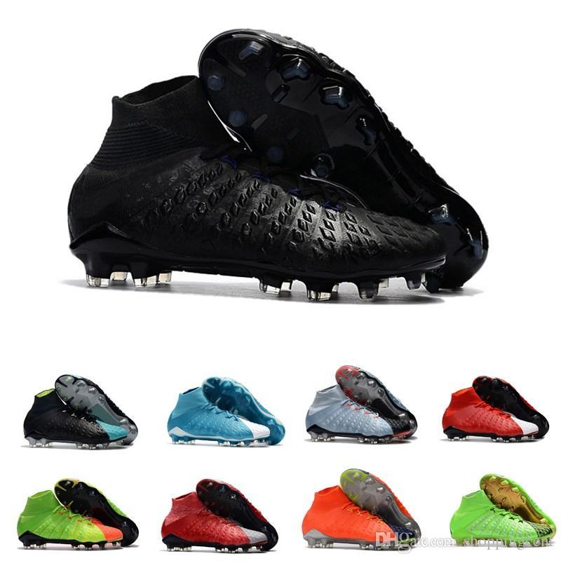 a433b2656c619 Compre Venta Caliente Nuevos Hombres Zapatos De Fútbol Hypervenom Phantom  III DF FG Movimiento Azul Hielo Fuego 3D Tejer Botas De Fútbol Al Aire  Libre De ...