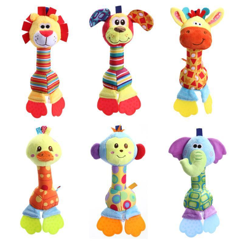 Newborn Baby Infant Animal Handbells Teether Bed Bells Toys Giraffe Gifts For Grandkids Personalized Gifts For Child From Farewelling, $7.19| DHgate.Com