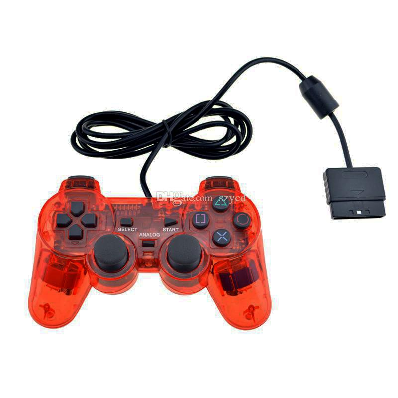 Twin Shock Game Controller Double Vibration Wired Joypad Gamepad Pad for Sony PS2 Playstation 2