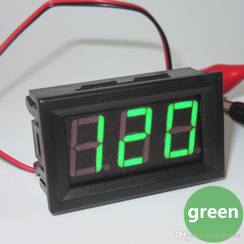 Mini Car Auto Motor LED Voltímetro Digital Amperímetro AC 70-500 V 0.56 Polegada Painel Amp Volt Atual Medidor Tester