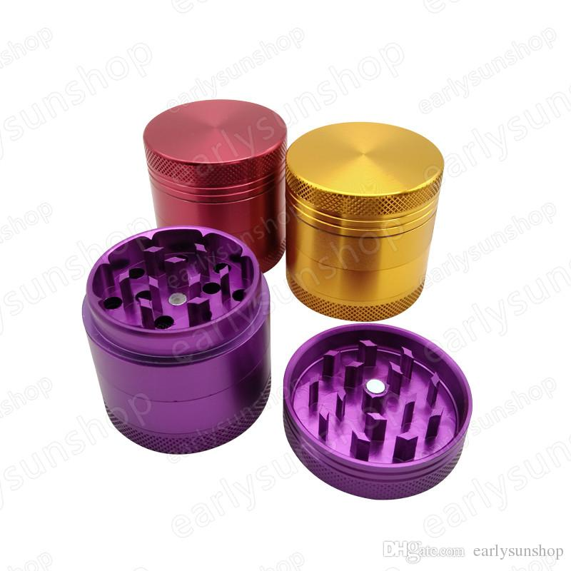 New arrival Wholesale !Beautiful 4 layers 40mm Mini Aluminum Alloy Metal Tobacco Herb Smoke Cigar Magnetic Spice Grinder