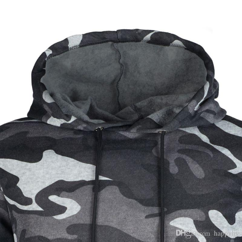 2018 New Autumn And Winter Men's Hoodies Camo Color Slim Coats Casual Hooded Sport Jackets Men's Hoodies Camouflage Clothing