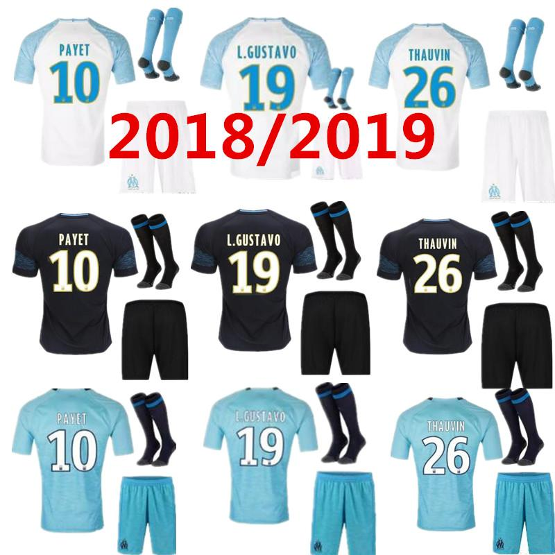 2019 PAYET Olympique De Marseille Soccer Jersey Thauvin Sanson ... 9b56f864a